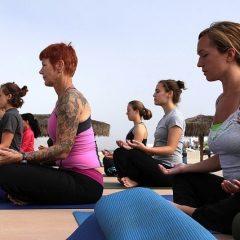 Hatha yoga at home